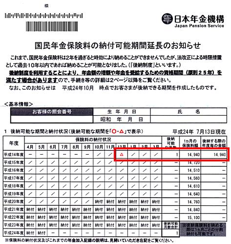 料 保険 国民 納 申込 追 書 年金